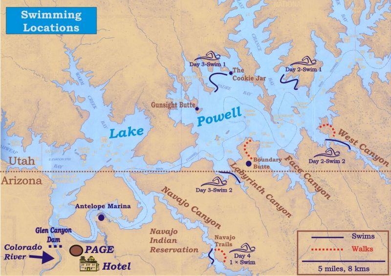 Schwimmferien Lake Powell - Schwimmferien.ch